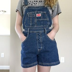 90s vintage overall shorts 💙